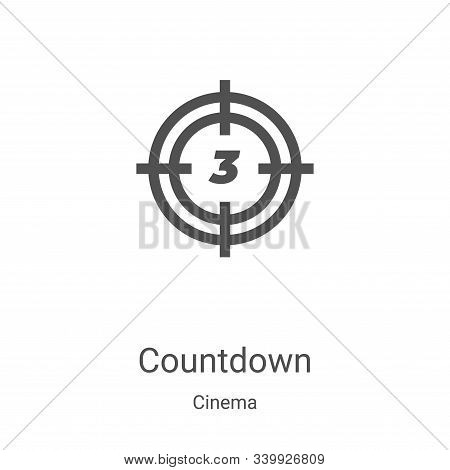 countdown icon isolated on white background from cinema collection. countdown icon trendy and modern