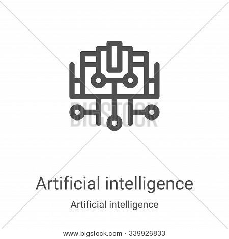 artificial intelligence icon isolated on white background from artificial intelligence collection. a