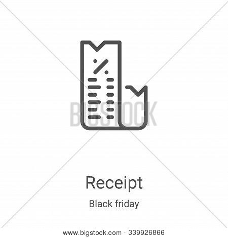 receipt icon isolated on white background from black friday collection. receipt icon trendy and mode