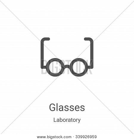 glasses icon isolated on white background from laboratory collection. glasses icon trendy and modern
