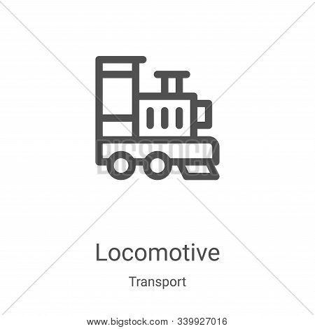 locomotive icon isolated on white background from transport collection. locomotive icon trendy and m