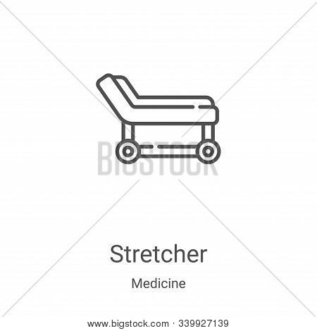 stretcher icon isolated on white background from medicine collection. stretcher icon trendy and mode