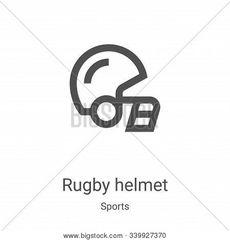 rugby helmet icon isolated on white background from sports collection. rugby helmet icon trendy and