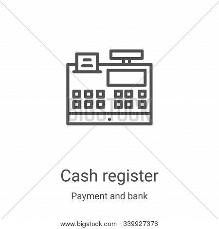cash register icon isolated on white background from payment and bank collection. cash register icon