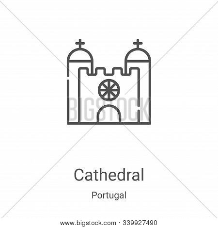 cathedral icon isolated on white background from portugal collection. cathedral icon trendy and mode