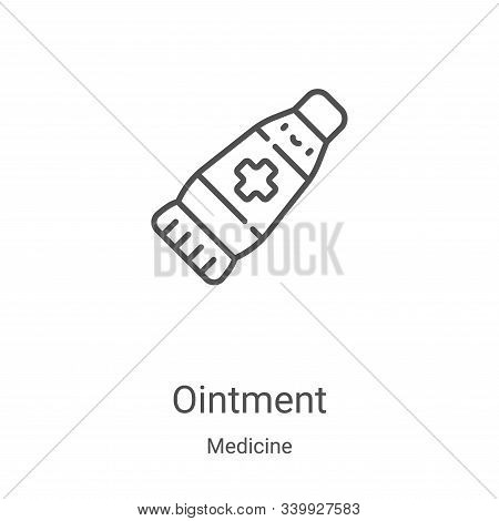 ointment icon isolated on white background from medicine collection. ointment icon trendy and modern