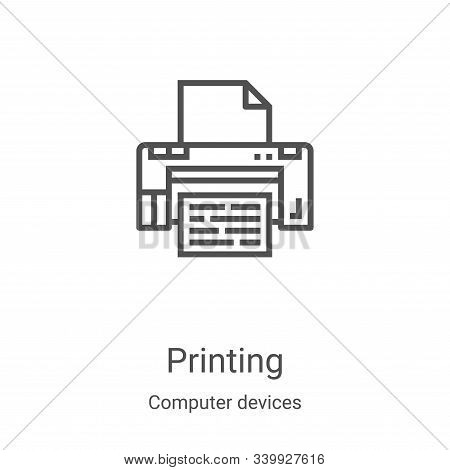 printing icon isolated on white background from computer devices collection. printing icon trendy an
