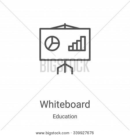 whiteboard icon isolated on white background from education collection. whiteboard icon trendy and m