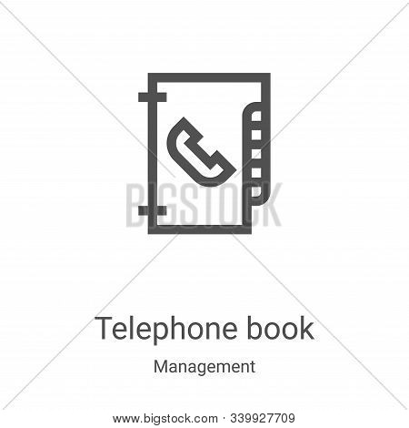 telephone book icon isolated on white background from management collection. telephone book icon tre