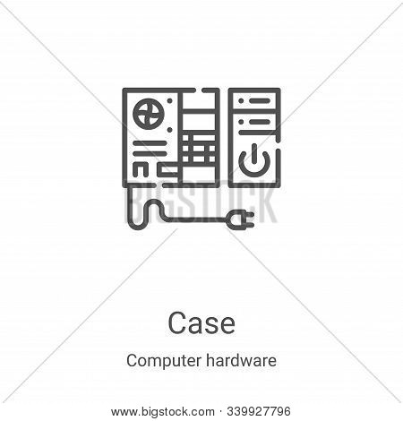 case icon isolated on white background from computer hardware collection. case icon trendy and moder