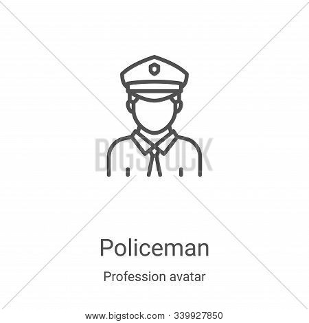 policeman icon isolated on white background from profession avatar collection. policeman icon trendy