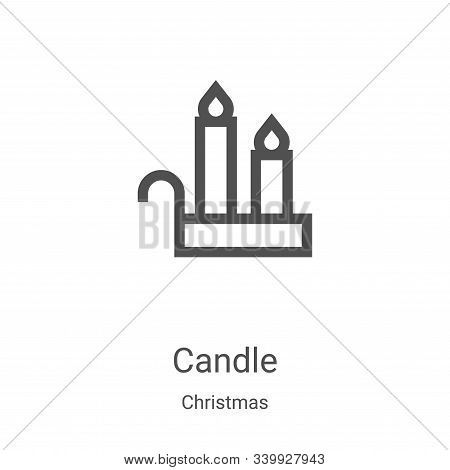 candle icon isolated on white background from christmas collection. candle icon trendy and modern ca