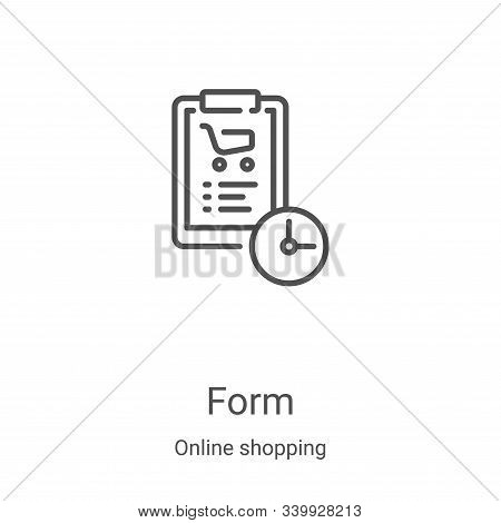 form icon isolated on white background from online shopping collection. form icon trendy and modern