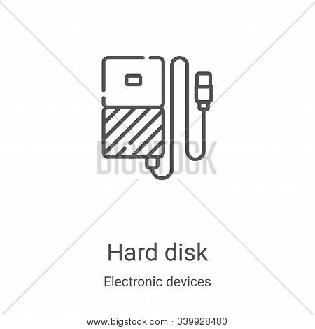 hard disk icon isolated on white background from electronic devices collection. hard disk icon trend