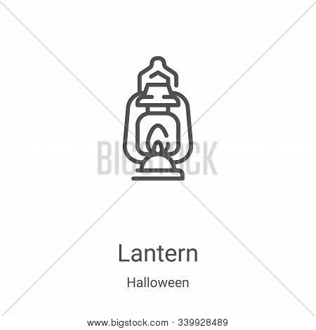 lantern icon isolated on white background from halloween collection. lantern icon trendy and modern