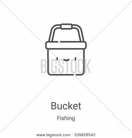 bucket icon isolated on white background from fishing collection. bucket icon trendy and modern buck