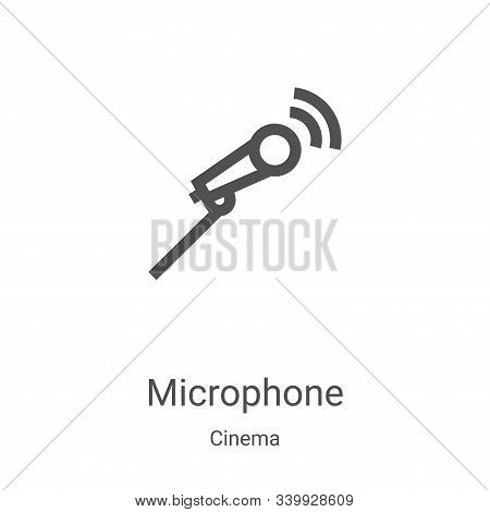 microphone icon isolated on white background from cinema collection. microphone icon trendy and mode