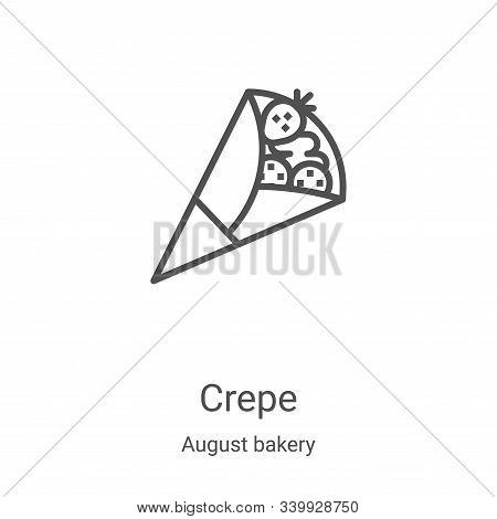 crepe icon isolated on white background from august bakery collection. crepe icon trendy and modern