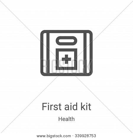 first aid kit icon isolated on white background from health collection. first aid kit icon trendy an