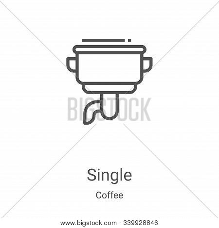 single icon isolated on white background from coffee collection. single icon trendy and modern singl