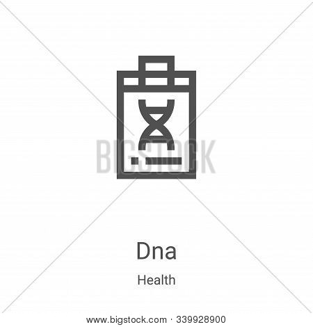 dna icon isolated on white background from health collection. dna icon trendy and modern dna symbol