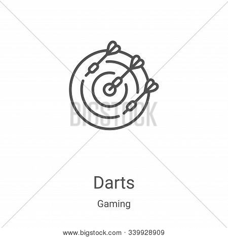darts icon isolated on white background from gaming collection. darts icon trendy and modern darts s
