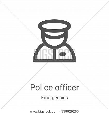 police officer icon isolated on white background from emergencies collection. police officer icon tr