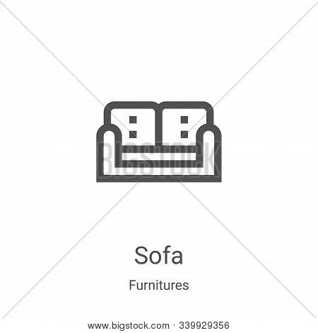 sofa icon isolated on white background from furnitures collection. sofa icon trendy and modern sofa