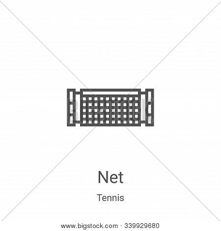 net icon isolated on white background from tennis collection. net icon trendy and modern net symbol