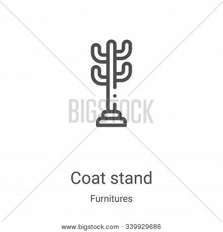 coat stand icon isolated on white background from furnitures collection. coat stand icon trendy and