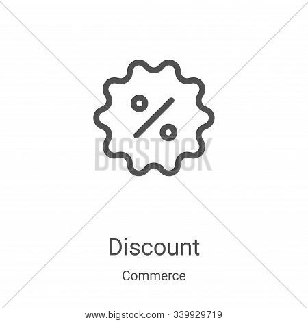 discount icon isolated on white background from commerce collection. discount icon trendy and modern
