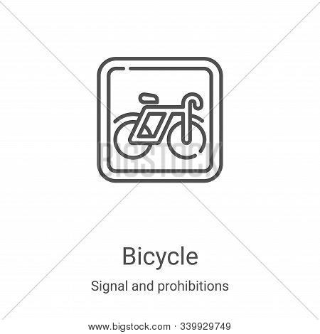 bicycle icon isolated on white background from signal and prohibitions collection. bicycle icon tren