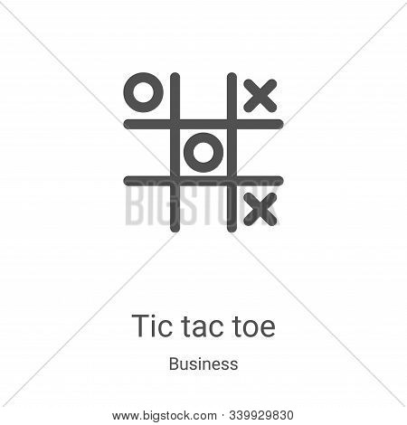 tic tac toe icon isolated on white background from business collection. tic tac toe icon trendy and