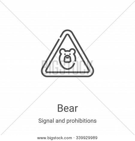 bear icon isolated on white background from signal and prohibitions collection. bear icon trendy and