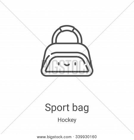 sport bag icon isolated on white background from hockey collection. sport bag icon trendy and modern