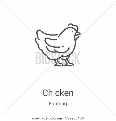 chicken icon isolated on white background from farming collection. chicken icon trendy and modern ch