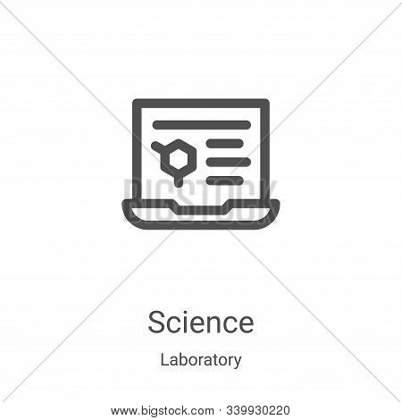 science icon isolated on white background from laboratory collection. science icon trendy and modern