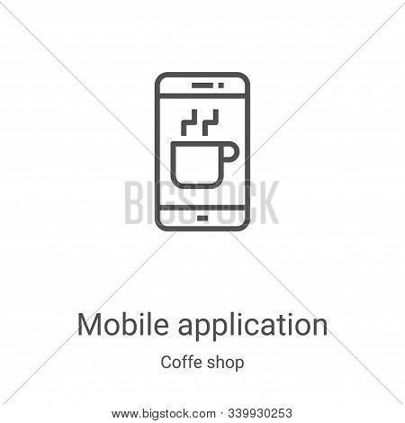 mobile application icon isolated on white background from coffe shop collection. mobile application