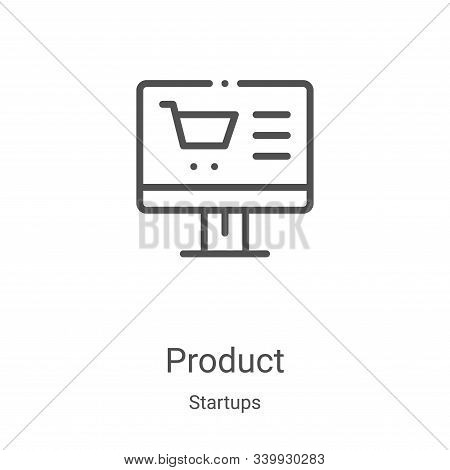 product icon isolated on white background from startups collection. product icon trendy and modern p