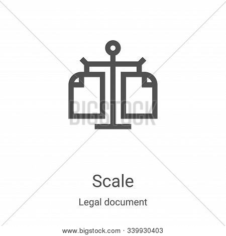 scale icon isolated on white background from legal document collection. scale icon trendy and modern