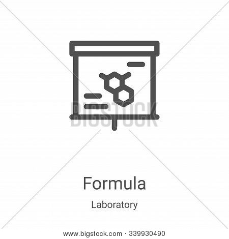 formula icon isolated on white background from laboratory collection. formula icon trendy and modern