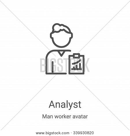 analyst icon isolated on white background from man worker avatar collection. analyst icon trendy and