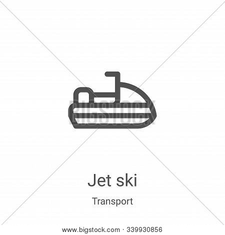 jet ski icon isolated on white background from transport collection. jet ski icon trendy and modern
