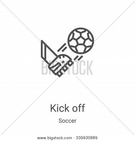 kick off icon isolated on white background from soccer collection. kick off icon trendy and modern k