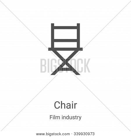 chair icon isolated on white background from film industry collection. chair icon trendy and modern
