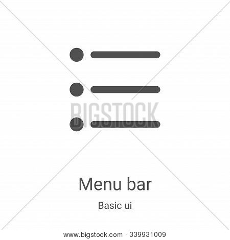 menu bar icon isolated on white background from basic ui collection. menu bar icon trendy and modern