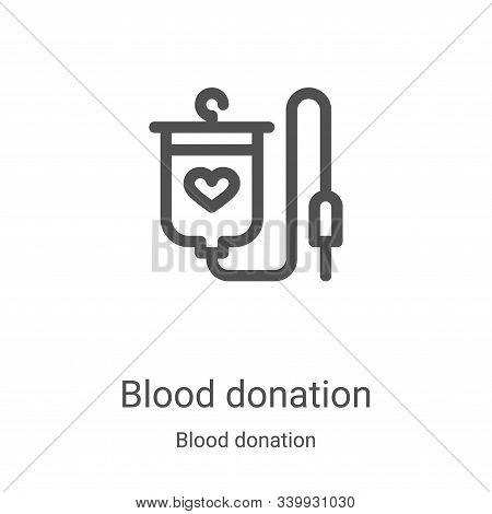 blood donation icon isolated on white background from blood donation collection. blood donation icon