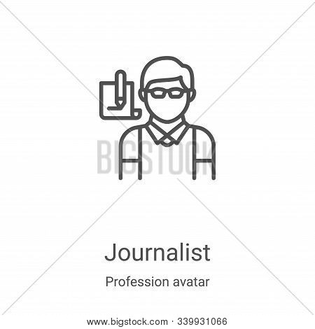 journalist icon isolated on white background from profession avatar collection. journalist icon tren