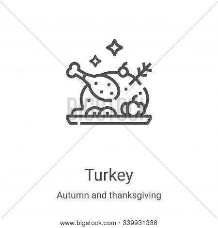 turkey icon isolated on white background from autumn and thanksgiving collection. turkey icon trendy
