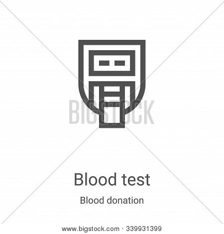 blood test icon isolated on white background from blood donation collection. blood test icon trendy